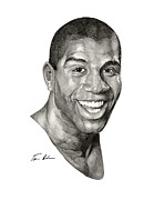 Magic Johnson Paintings - Magic by Tamir Barkan