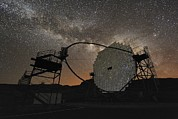 Gamma Rays Prints - Magic Telescope And Milky Way Print by Alex Cherney, Terrastro.com
