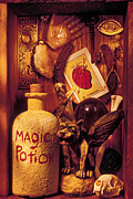 Skeleton Hand Framed Prints - Magic Things Framed Print by Garry Gay