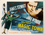 Wyman Prints - Magic Town, James Stewart, Jane Wyman Print by Everett