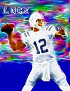 Mvp Digital Art Prints - Magical Andrew Luck Print by Paul Van Scott
