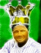 Ny Yankees Drawings Prints - Magical Babe Ruth Print by Paul Van Scott