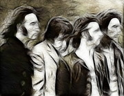Beatles Digital Art - Magical Beatles by Paul Van Scott