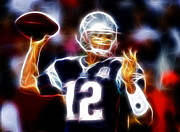 Quarterback Drawings - Magical Brady by Paul Van Scott