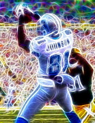 Detroit Drawings Posters - Magical Calvin Johnson Poster by Paul Van Scott