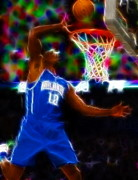 Slam Dunk Drawings Prints - Magical Dwight Howard Print by Paul Van Scott