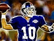 Qb Posters - Magical Eli Manning Poster by Paul Van Scott