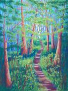 Cathy Harville Pastels Acrylic Prints - Magical Forest Acrylic Print by Cathy Harville