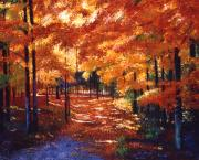 Impressionism Art - Magical Forest by David Lloyd Glover