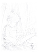 Child Reading Drawings - Magical II by Pride