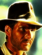 Indiana Drawings Prints - Magical Indiana Jones Print by Paul Van Scott