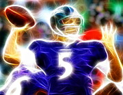 Action Drawings - Magical Joe Flacco by Paul Van Scott
