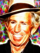 Keith Richards Drawings - Magical Keith Richards by Paul Van Scott