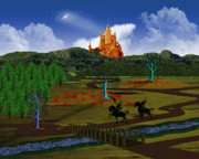 Knights Castle Digital Art - Magical Kingdom of Gorias - Celtic by Jules Sartain