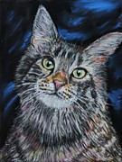 Tabby Pastels Originals - Magical Mr. Mistoffelees by Mike Paget