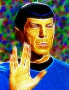 Nimoy Posters - Magical Mr. Spock Poster by Paul Van Scott