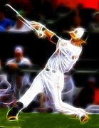 Mlb Drawings Prints - Magical Oriole Print by Paul Van Scott