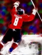 Nhl Drawings Prints - Magical Ovechkin Print by Paul Van Scott