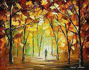 Autumn Landscape Paintings - Magical Park by Leonid Afremov