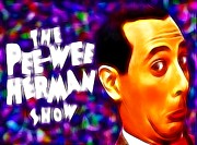 1980s Drawings - Magical Pee Wee Herman by Paul Van Scott