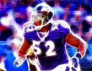 Baltimore Drawings Metal Prints - Magical Ray Lewis Metal Print by Paul Van Scott