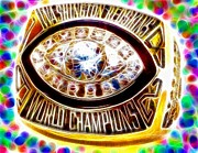 Championship Ring Posters - Magical Redskins 1982 Super Bowl Ring Poster by Paul Van Scott