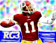 Player Drawings Posters - Magical RG3 Poster by Paul Van Scott