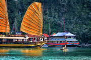 Ha Long Posters - Magical Sails Vietnam Poster by Chuck Kuhn