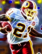 Football Drawings Framed Prints - Magical Sean Taylor Framed Print by Paul Van Scott