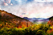 Sedona Digital Art Prints - Magical Sedona Print by Ellen Lacey