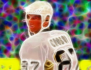 Player Drawings Posters - Magical Sidney Crosby Poster by Paul Van Scott