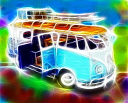 Surfers Mixed Media - Magical Splitty by Paul Van Scott