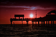 Pier Digital Art - Magical Sunset in Florida by Bill Cannon