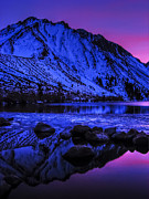 Laurel Posters - Magical Sunset over Mount Morrison and Convict Lake Poster by Scott McGuire