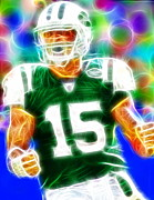 Player Drawings Posters - Magical Tim Tebow Poster by Paul Van Scott