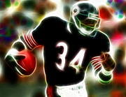 Nfl Drawings Prints - Magical Walter Payton Print by Paul Van Scott