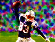 Patriots Prints - Magical Wes Welker  Print by Paul Van Scott