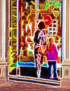 Fanciful Metal Prints - Magical Window - Christmas Window Display 3  Metal Print by Steve Ohlsen