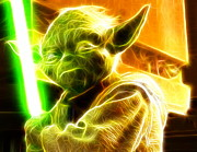 Magical Yoda Print by Paul Van Scott