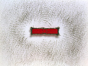 Flux Posters - Magnetic Field Of A Bar Magnet Poster by Martyn F. Chillmaid