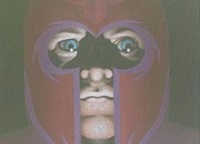Self-portrait Drawings - Magneto by Leo Strawn Jr