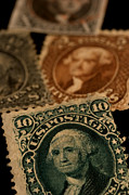 United States Postage Posters - Magnification Of Classic 19th Century Poster by Phil Schermeister