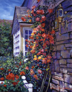 Rose Bushes Posters - Magnificent Climbing Roses Poster by David Lloyd Glover