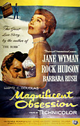 1950s Movies Framed Prints - Magnificent Obsession, Rock Hudson Framed Print by Everett