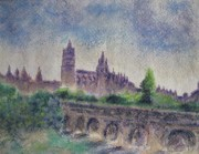 Spain Pastels - Magnificent Salamanca by Zoran Markovik