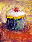 Cupcake Paintings - Magnifique by Jeannine Luke