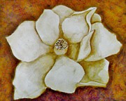 Brown Paintings - Magnolia Morning by Terry DeMars