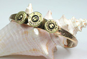 Stamped Jewelry - Magnum Caliber Bullet Shell Bracelet by Esprit Mystique