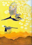 Magpies Tapestries Textiles - Magpies for Maggie by Scott Mulholland