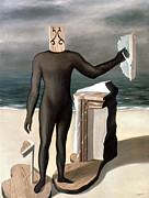 Ghislain Framed Prints - Magritte: Man From The Sea Framed Print by Granger